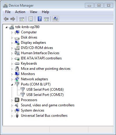 Two USB Serial Ports of ESP-WROVER-KIT in Windows Device Manager