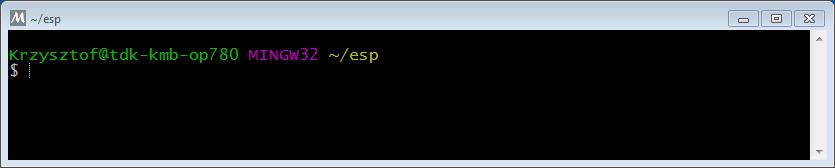 Standard Setup of Toolchain for Windows — ESP-IDF Programming Guide