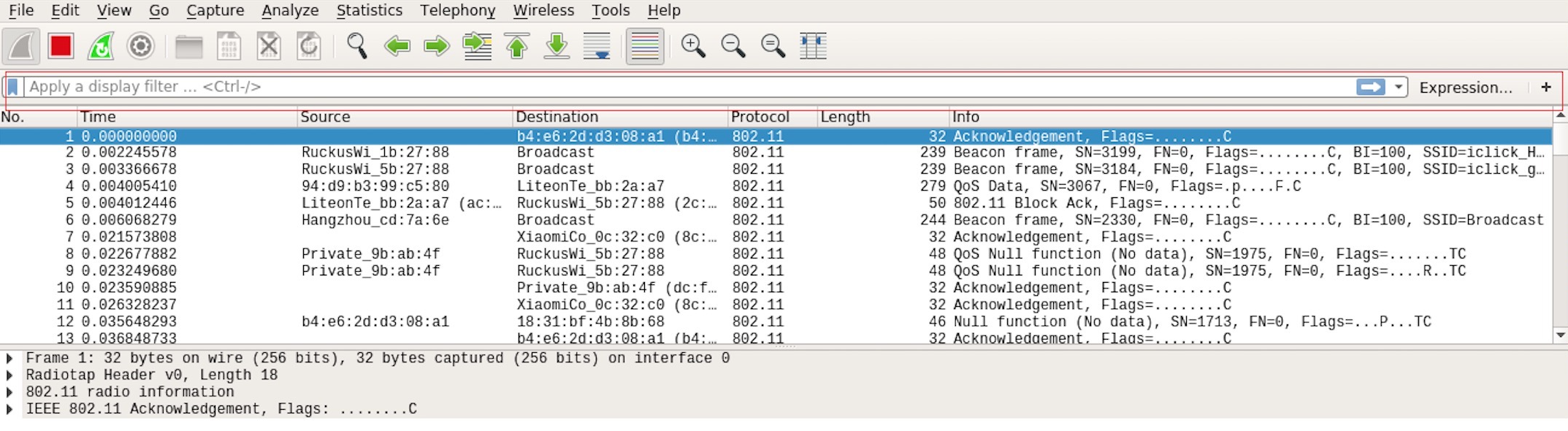 Setting up Filters in Wireshark